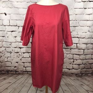 COS 100% Cotton Red Tent Dress with Pockets Size 6